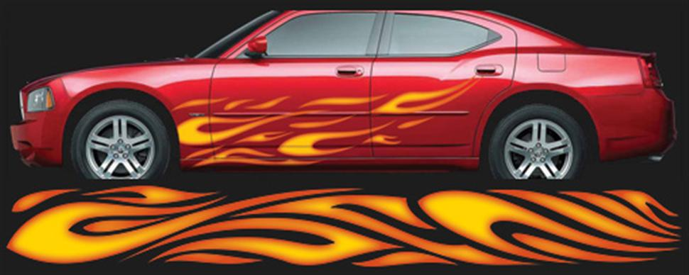 Flame Decals Car Decals Guide - Flame stikers for car